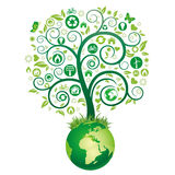 Earth and green tree Stock Photography