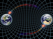 Earth on Grid Royalty Free Stock Photography