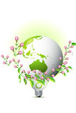 Earth with growing leafs Royalty Free Stock Photo
