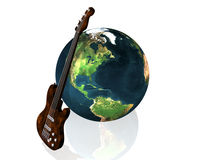 Earth and guitar Royalty Free Stock Photography