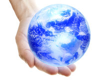 Earth in Hand Royalty Free Stock Photography