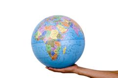 Earth in hand Royalty Free Stock Image