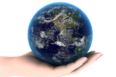 Earth in the hand Stock Photos
