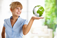 Earth in the hand Stock Image