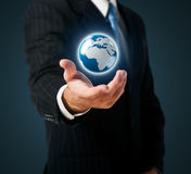 Earth in a hand Royalty Free Stock Photo