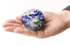 Earth in a Hand Royalty Free Stock Image