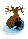 Earth and hand as tree Stock Photography