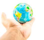 Earth on hand. Close up Royalty Free Stock Photo