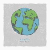 Earth. Hand drawn. Vector eps8 Stock Photography
