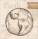 Earth. Hand drawn. Vector eps 8 Royalty Free Stock Image