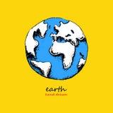 Earth hand drawn vector illustration Royalty Free Stock Photos
