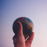 Earth in hand Royalty Free Stock Photo