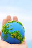 Earth in hand Royalty Free Stock Photos