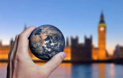 Earth Hand London Royalty Free Stock Images