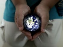 Earth in hand. Stock Image
