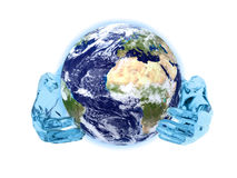Earth in hands Stock Images
