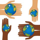 Earth in hands Royalty Free Stock Photography