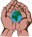Earth in a hands Royalty Free Stock Photo