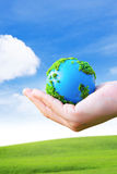 Earth in Hands Royalty Free Stock Photo