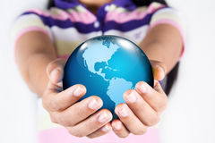 Earth in the hands. Royalty Free Stock Images