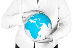 Earth in hands Stock Photography