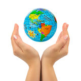 Earth in hands Stock Photos