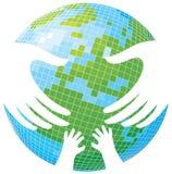 Earth. Hands of parents and children. Vector illustration Vector Illustration