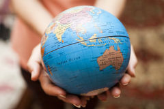 The earth in hands Royalty Free Stock Photos