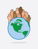 Earth Hands Raised Stock Photo