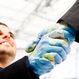 Earth handshake Royalty Free Stock Photo