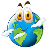 Earth with happy face Stock Photos