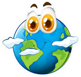 Earth with happy face Stock Photo