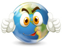 Earth with happy face Royalty Free Stock Photography