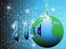 Earth happy new year 2015 Stock Photo