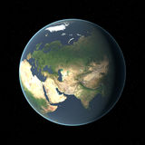 Earth in HD. Elevation. Atmosphere Royalty Free Stock Image