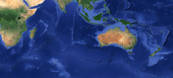 Earth HD plan Oceania. Earth HD plan Oceania, Still Life Stock Images