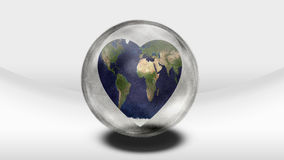Earth Heart in container Stock Photography