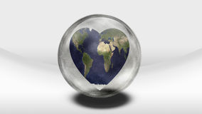 Earth Heart in container Stock Image