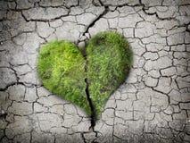Earth heart on ground Stock Photo