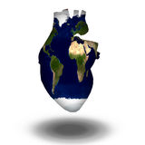 Earth Heart Stock Images