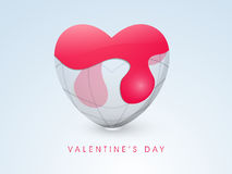 Earth heart with paint for Valentines Day. Royalty Free Stock Photo