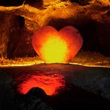 Earth hearth. At center of the earth there are a hearth royalty free stock image