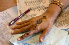 Earth Henna/Mehndi Body Painting Royalty Free Stock Image