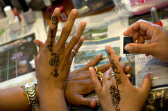 Earth Henna/Mehndi Body Painting Stock Photos