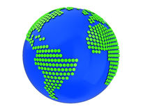 Earth with hexagons. 3d illustration of earth globe with hexagonal texture Royalty Free Stock Photos