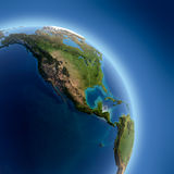 Earth with high relief, illuminated Royalty Free Stock Photo