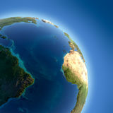 Earth with high relief, illuminated Royalty Free Stock Photos
