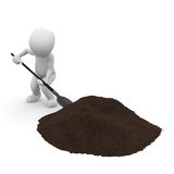 Earth hill shovel Royalty Free Stock Image