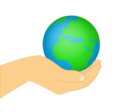 Earth In His Hands Royalty Free Stock Photography