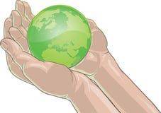 earth holding Στοκ φωτογραφία με δικαίωμα ελεύθερης χρήσης